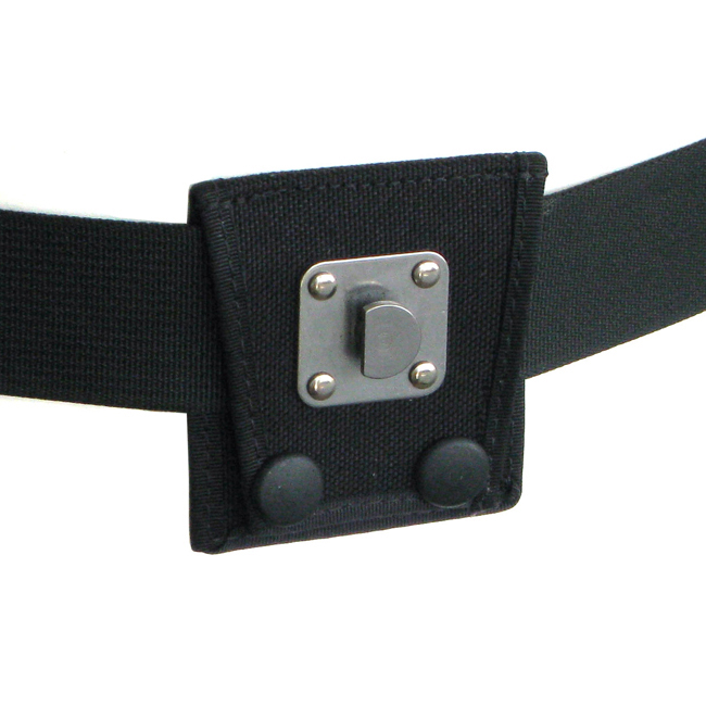 Belt with male swivel clip carrier.