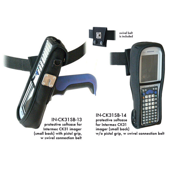 Protective softcase for Intermec CK31 imager (small back) w/o pistol grip, w swivel connection belt