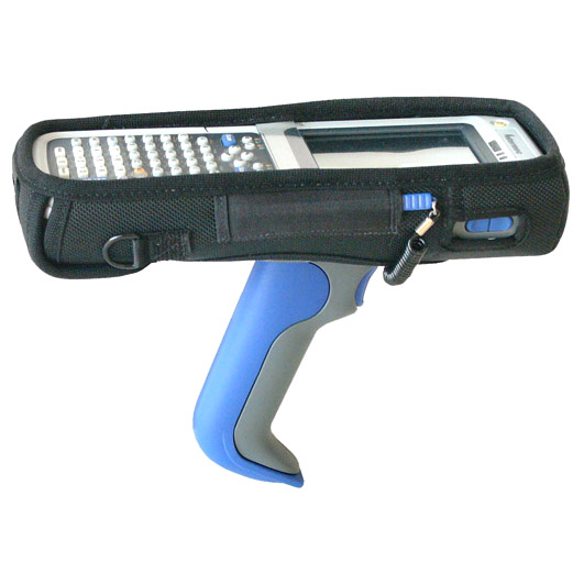 Protective softcase, keys and displayed exposed, for Intermec CN30 with pistol grip, w shoulder strap