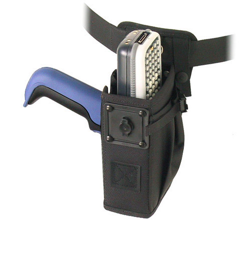 Left/right hip holster for Intermec CK30 with scan handle, belt