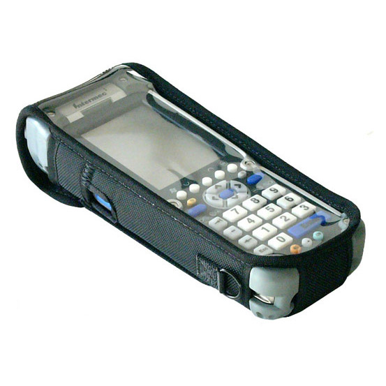 Protective softcase, clear screen over keys and display, for Intermec CK60 w/o pistol grip, w shoulder strap.