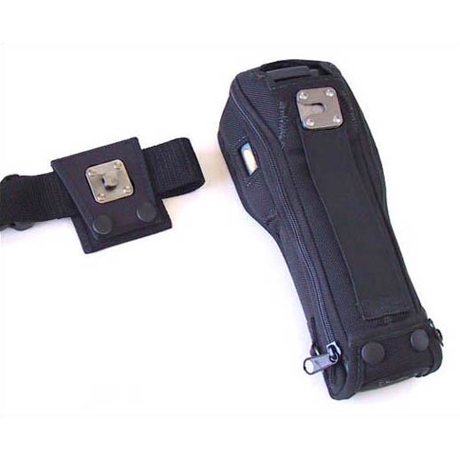 Protective softcase with swivel connection belt, with clear plastic screen, Intermec 2435
