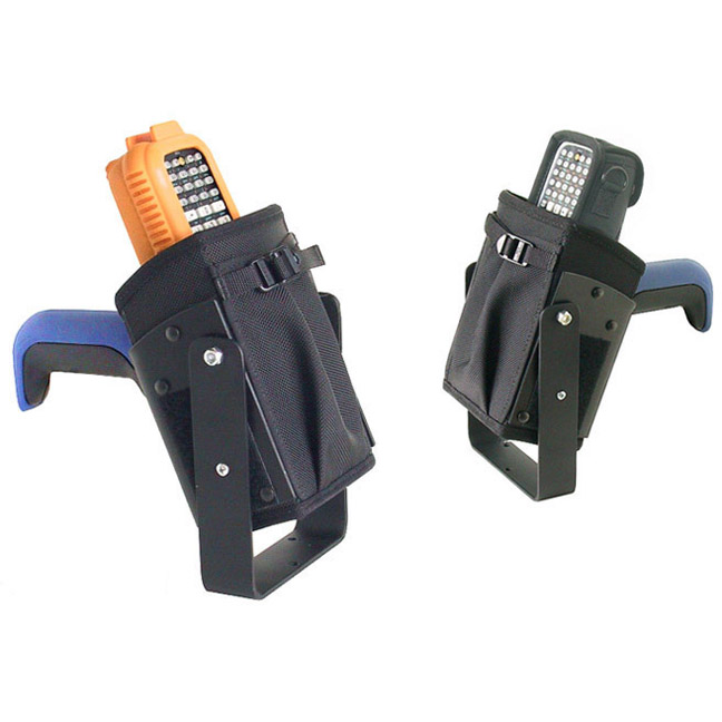 Vehicle top mounted bracketed holster for Intermec CK30 w/ scan handle