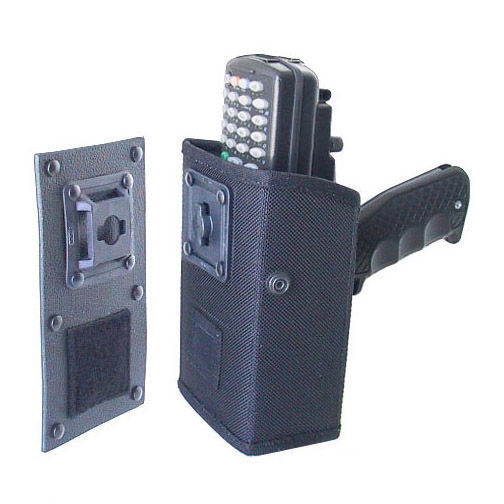 Holster for Intermec 6400 with scan handle, attach to dashboard, wall or tie to post