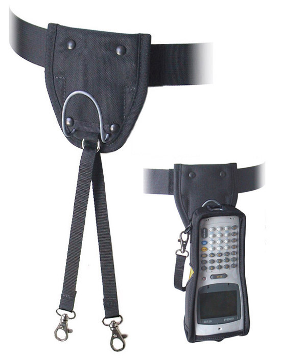 Utility belt with wire hook carrier and safety strap (for tethered combo).