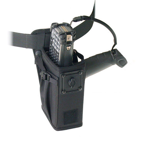 Left/right hip holster w belt w safety strap, Zebra-Motorola MC9090G.