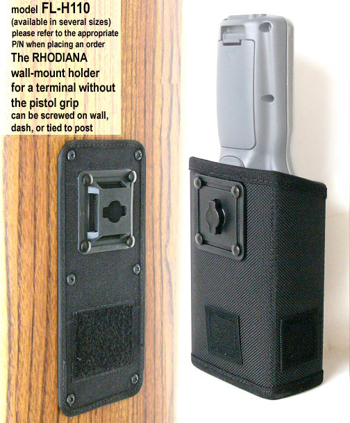 Wall-mount holster, attach to dashboard, wall or tie to post, for Zebra-Motorola MC9000-K and MC9000-S (