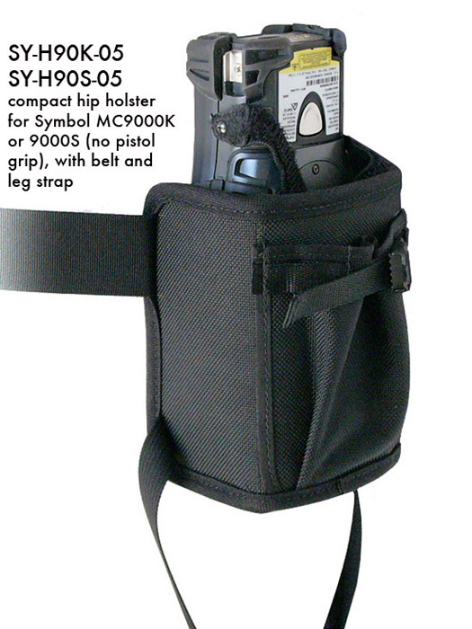 Compact hip holster for Zebra-Motorola MC 9000-K