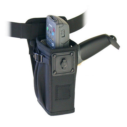 Left/right hip holster w belt w safety strap, Zebra-Motorola 8100