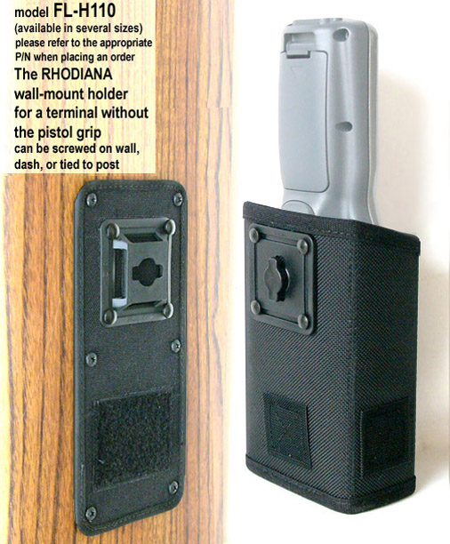 wall-mount holster, attach to dashboard, wall or tie to post, Zebra-Motorola PDT8100