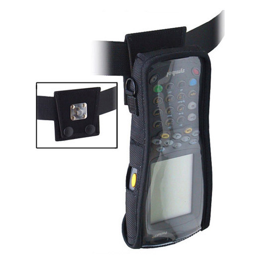 Protective softcase w swivel connection belt, with clear plastic screen, Zebra-Motorola 8100