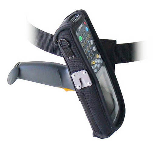 Protective softcase w left/right swivel connection belt, with clear plastic screen, Zebra-Motorola 8100