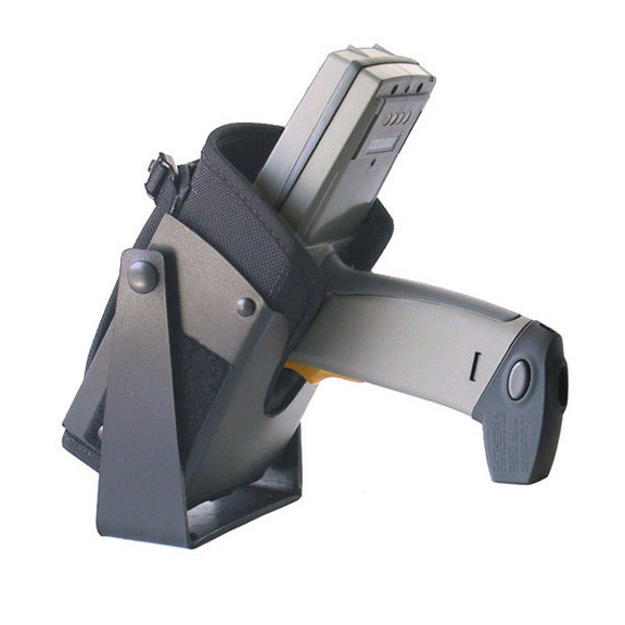 Vehicle top mounted bracketed holster for Zebra-Motorola PDT6800,