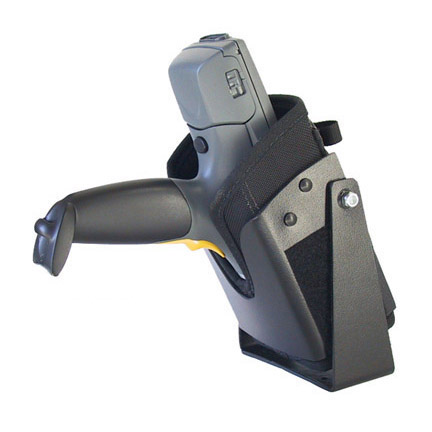 Vehicle top mounted bracketed holster, Zebra-Motorola PDT8100