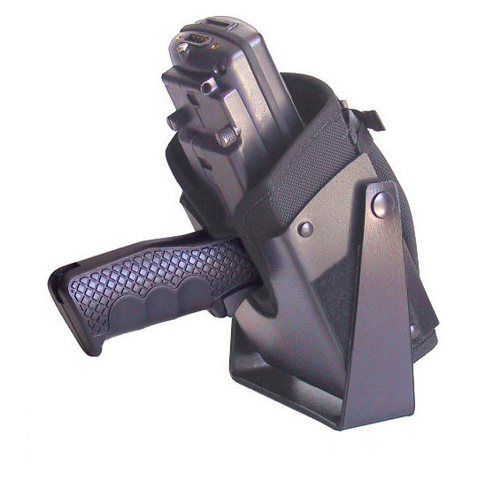 Vehicle top mounted holster for Intermec 6400 with scan handle